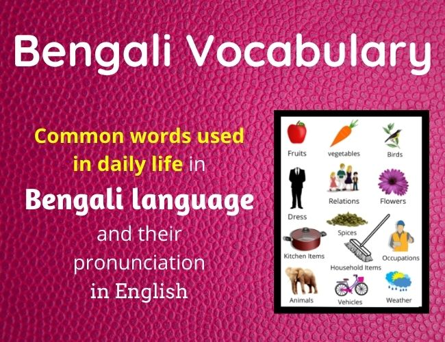 Bengali Vocabulary