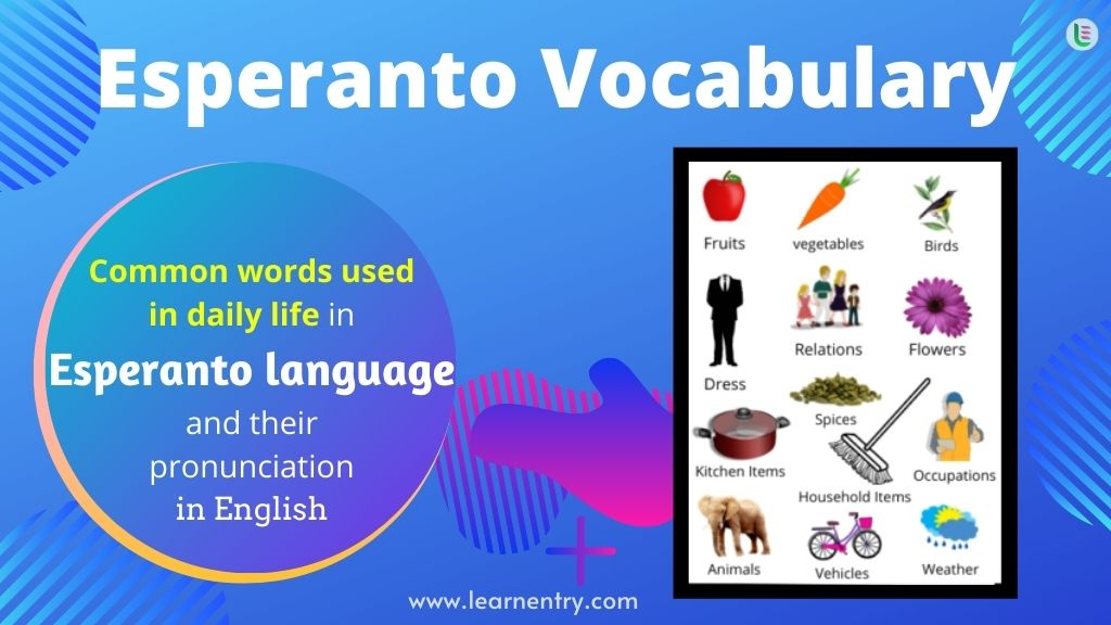 Common words in Esperanto