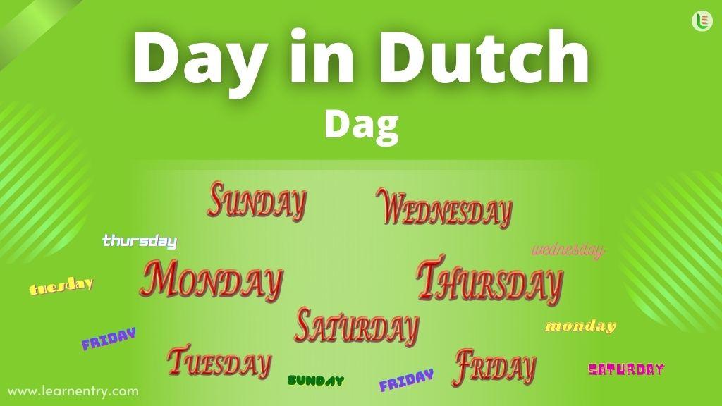 Days in Dutch