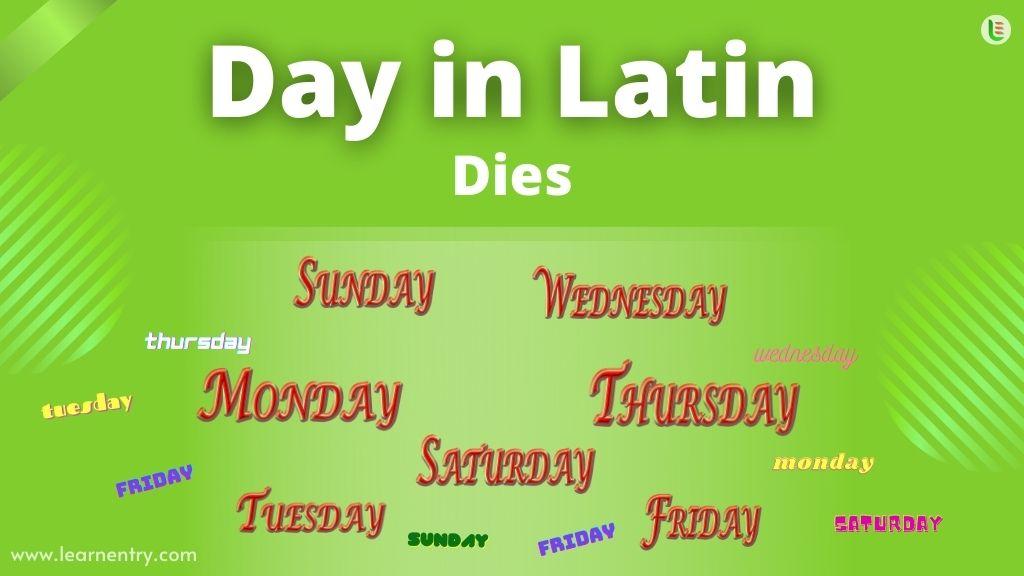 Days in Latin