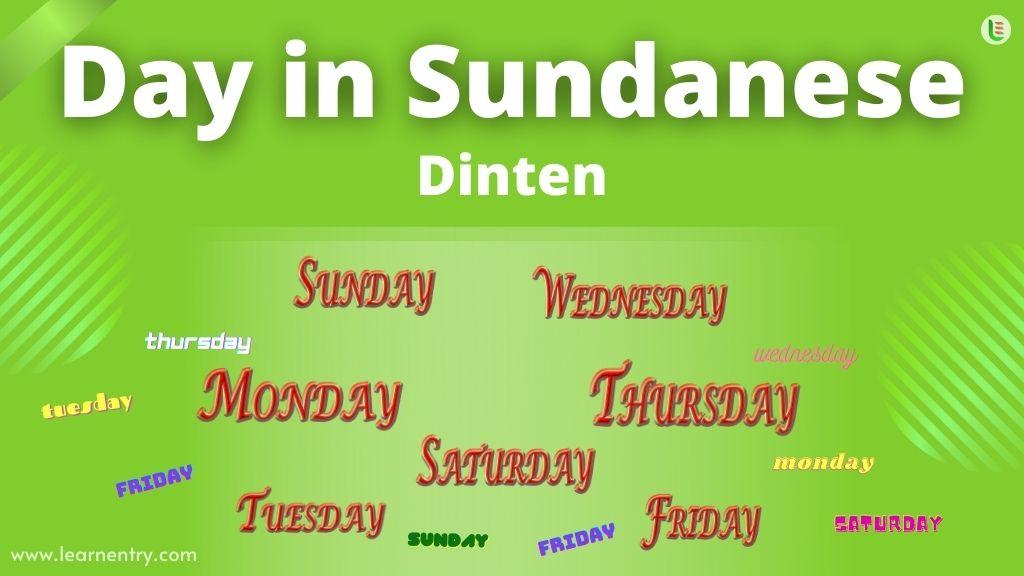 Days in Sundanese