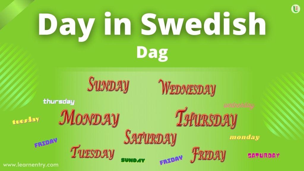 Days in Swedish