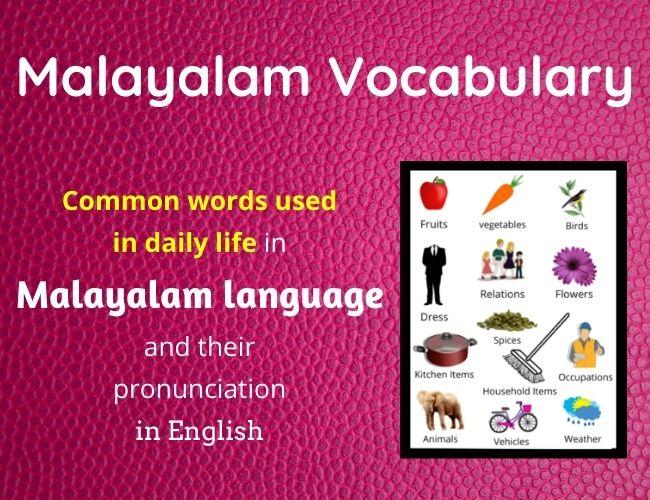 Malayalam Vocabulary