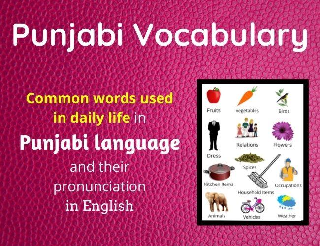 Punjabi Vocabulary