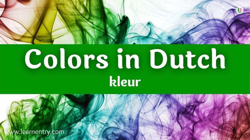 Colors in Dutch