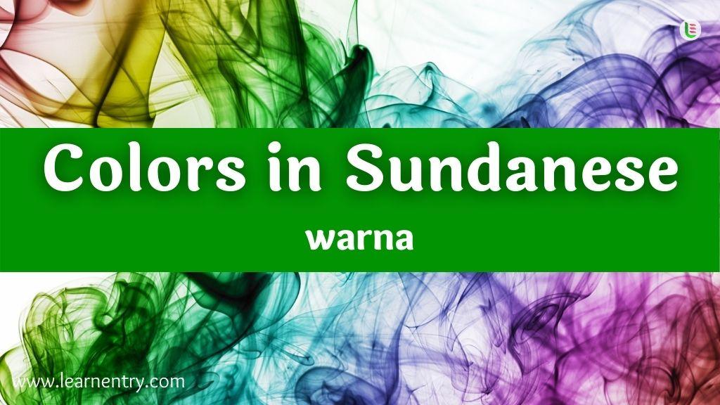 Colors in Sundanese