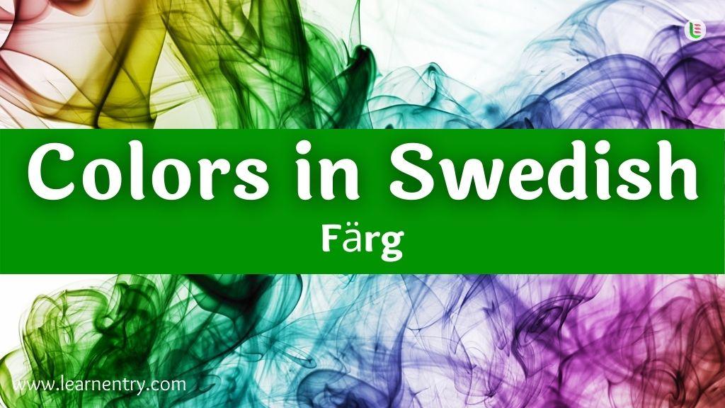 Colors in Swedish