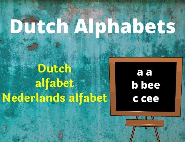 Dutch alphabet