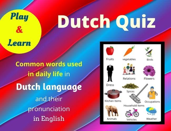 Dutch quiz