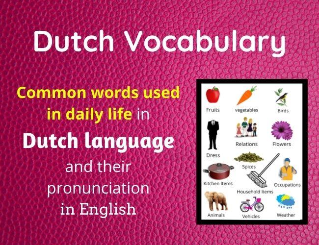 Dutch vocabulary
