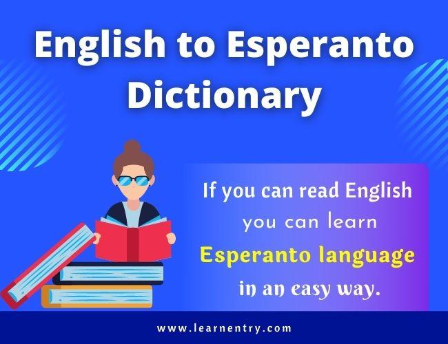 English to Esperanto dictionary