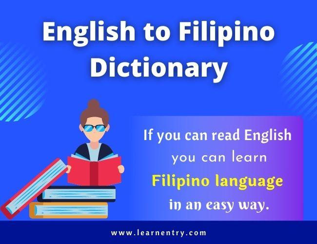 English to Filipino dictionary