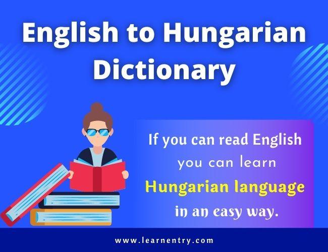 English to Hungarian dictionary