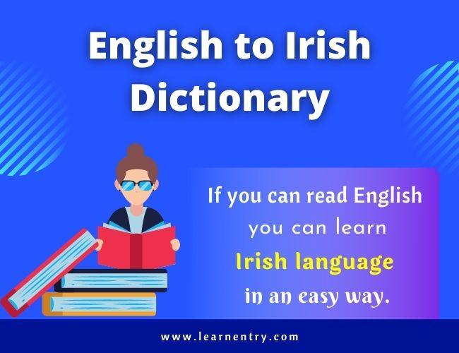 English to Irish dictionary