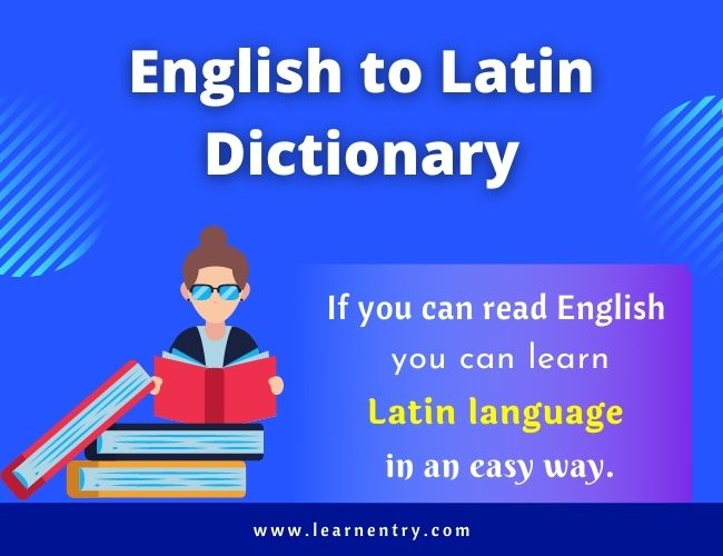 English to Latin dictionary