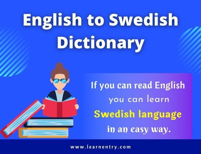 English to Swedish dictionary