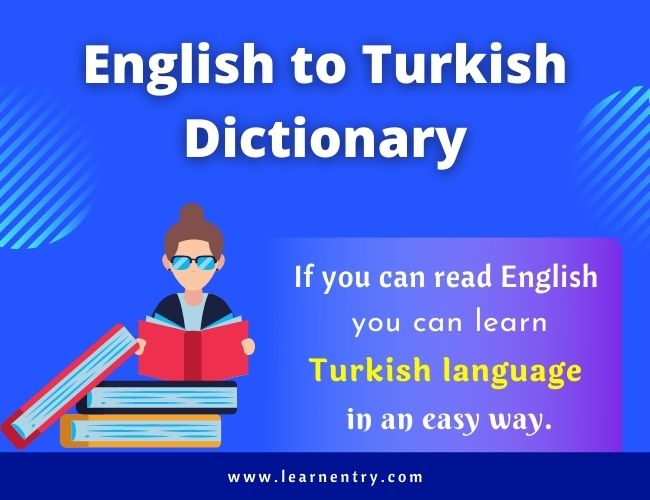 English to Turkish dictionary