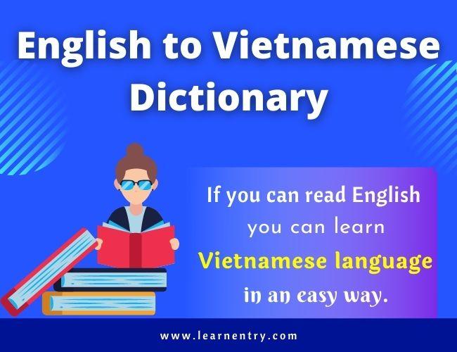 English to Vietnamese dictionary