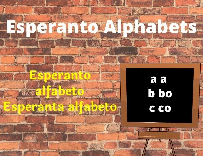 Esperanto alphabet