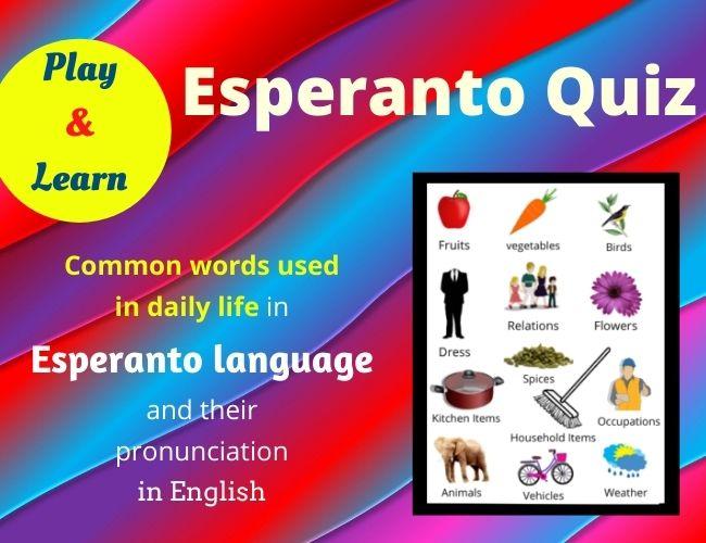 Esperanto quiz