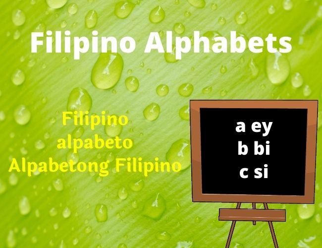 Filipino alphabet