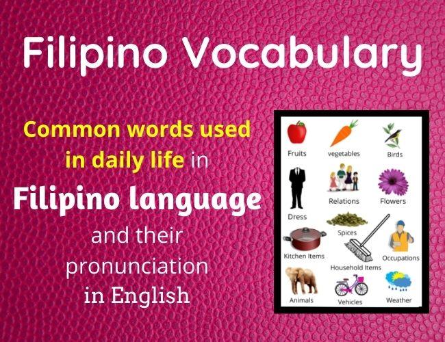 Filipino vocabulary