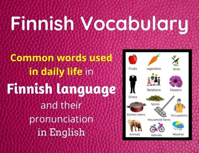 Finnish vocabulary