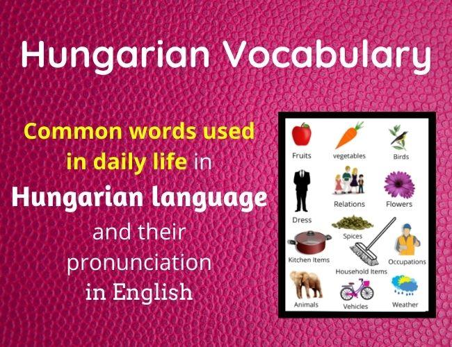Hungarian vocabulary
