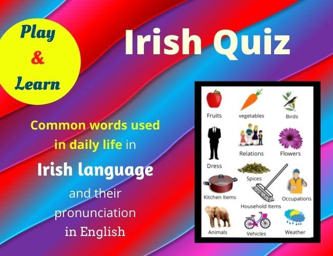 Irish quiz