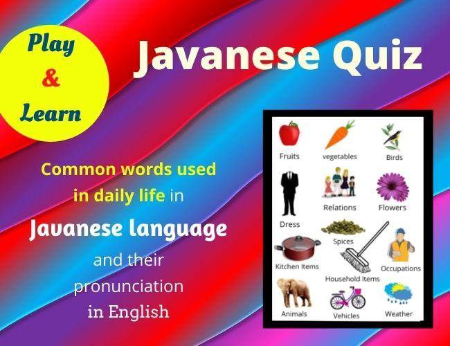 Javanese quiz