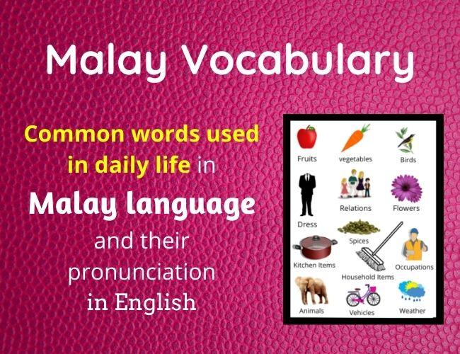 Malay vocabulary