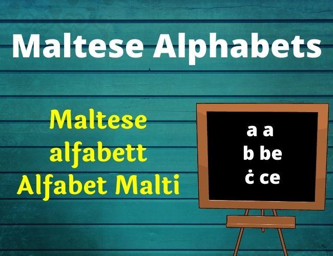 Maltese alphabet