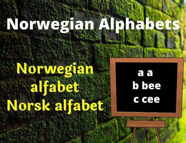 Norwegian alphabet