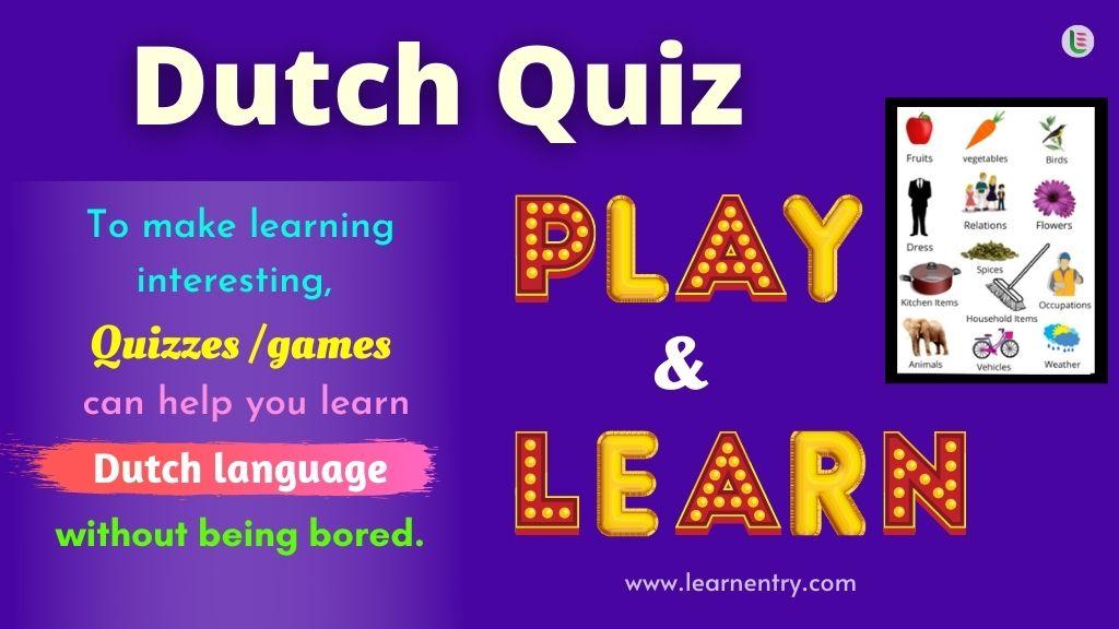 Play Quiz in Dutch