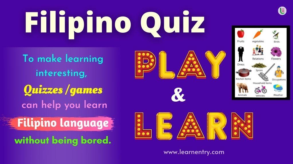 Play Quiz in Filipino