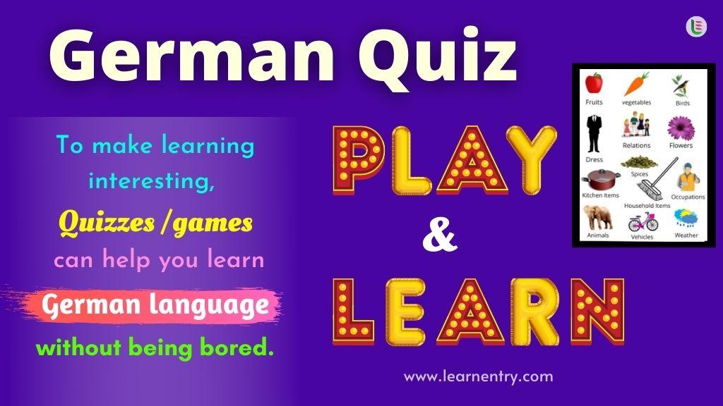 Play Quiz in German