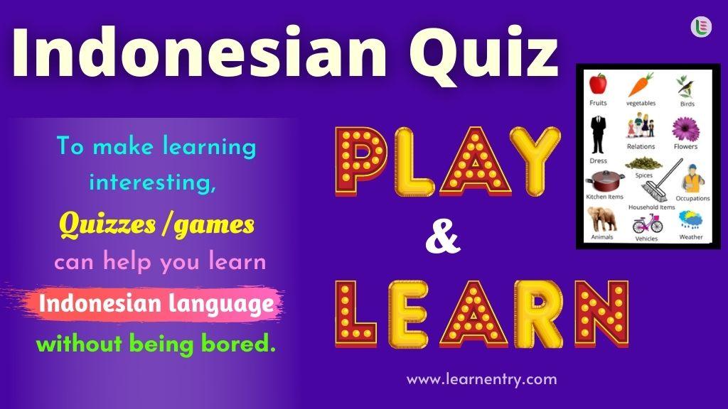 Play Quiz in Indonesian
