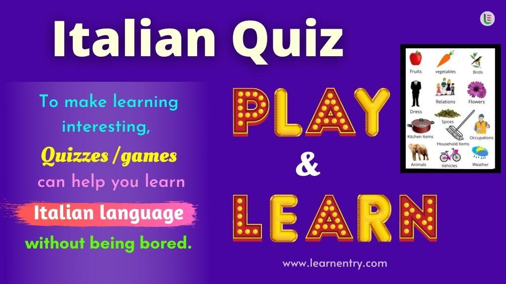 Play Quiz in Italian