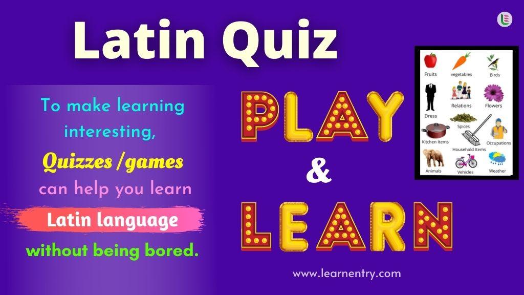 Play Quiz in Latin