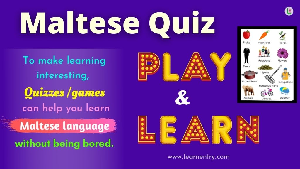 Play Quiz in Maltese