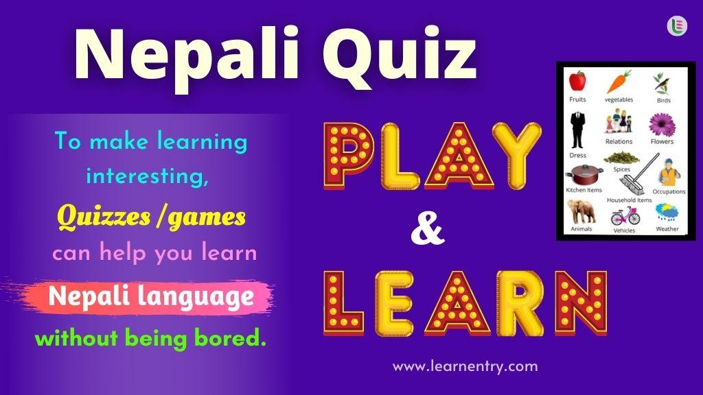 Play Quiz in Nepali