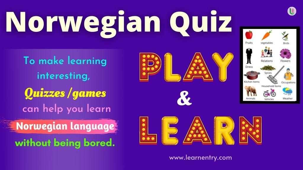 Play Quiz in Norwegian