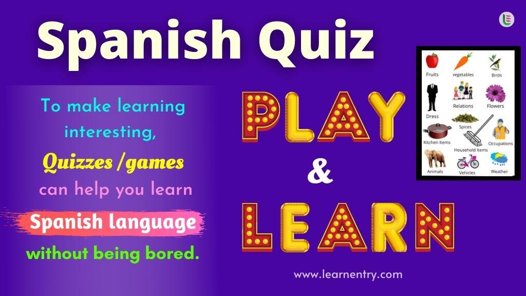 Play Quiz in Spanish