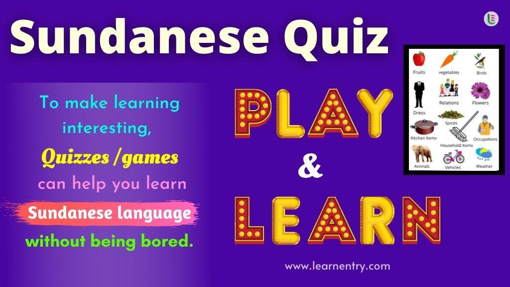 Play Quiz in Sundanese