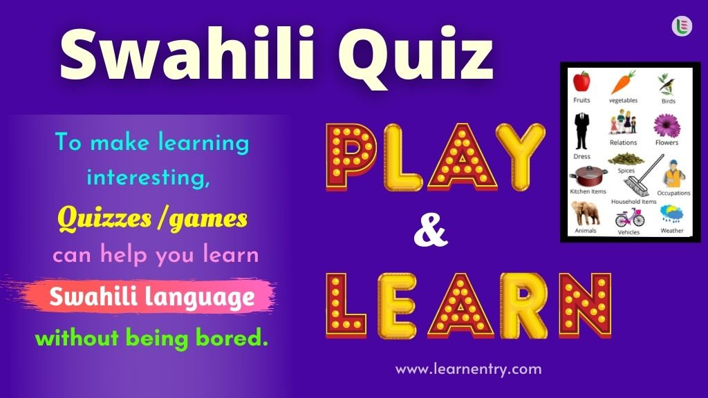 Play Quiz in Swahili