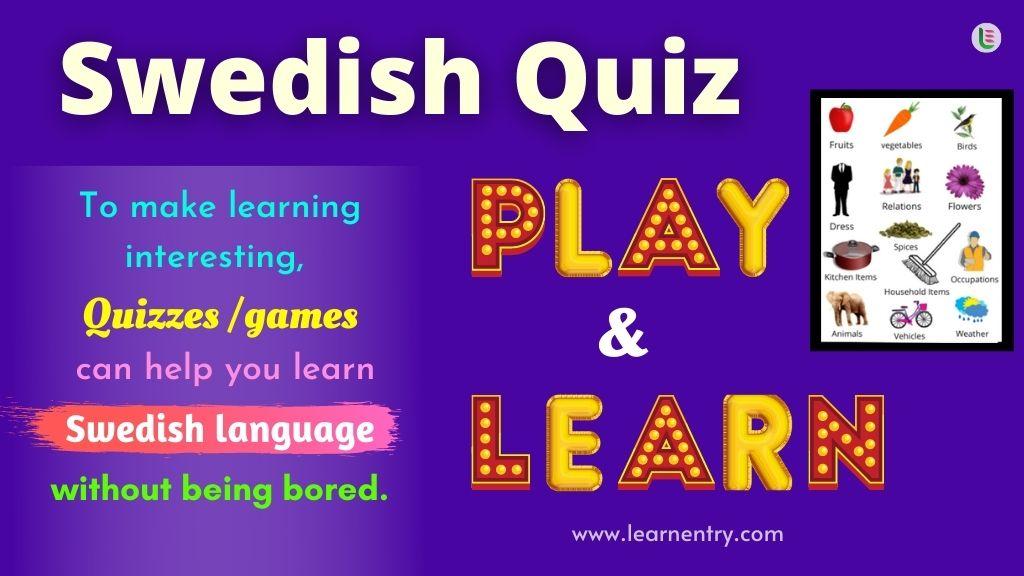 Play Quiz in Swedish