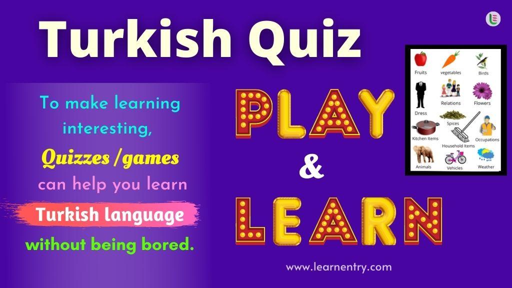Play Quiz in Turkish