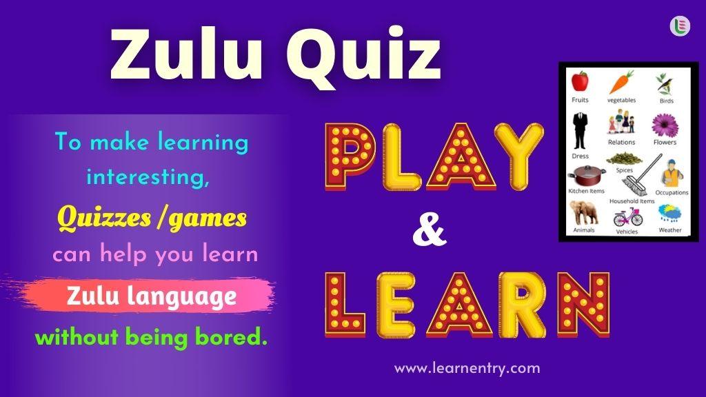 Play Quiz in Zulu