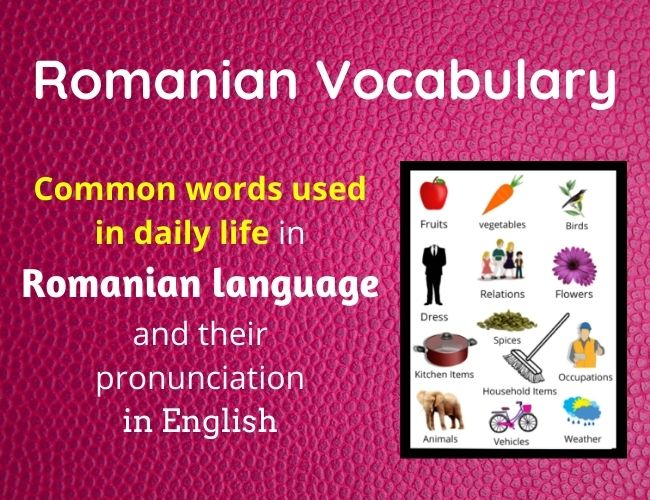 Romanian vocabulary