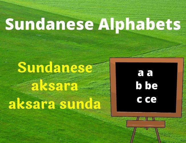 Sundanese alphabet